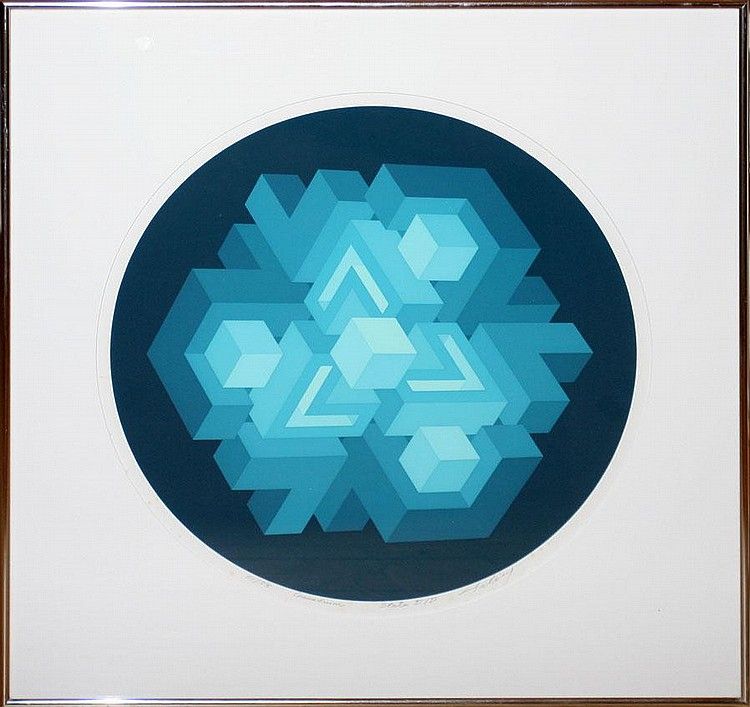 BRIAN HALSEY, ROUND COLOR SILKSCREEN, 17