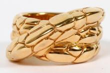 DESIGNER 18KT YELLOW GOLD RING
