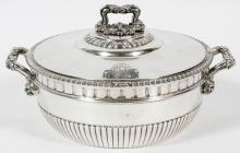 SPANISH 800 PTS SILVER COVERED ENTREE SERVER