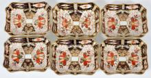 ROYAL CROWN DERBY NUT DISHES 6