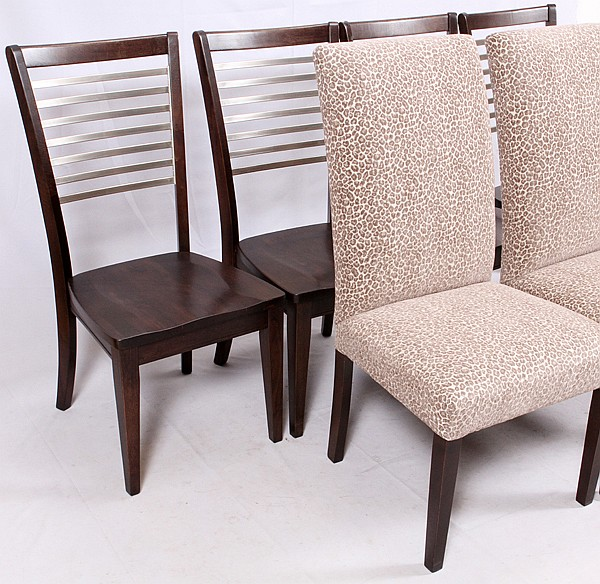 BASSETT FURNITURE CO. DINING TABLE AND SIX CHAIRS