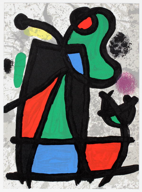 Joan miro color lithograph from derriere le miroir for Miroi log in
