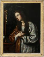 OLD MASTER MARY MAGDALENE OIL ON CANVAS 17TH C.