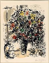 MARC CHAGALL COLOR LITHOGRAPH ON PAPER 1973 18/50