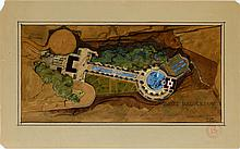 FRANK LLOYD WRIGHT WATERCOLOR & GOUACHE