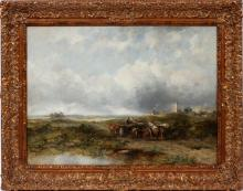 FREDERICK W. WATTS OIL ON CANVAS