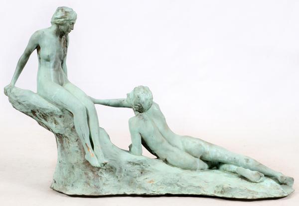 ROLAND HINTON PERRY BRONZE SCULPTURE, 1913