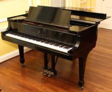 STEINWAY & SONS BLACK EBONY BABY GRAND PIANO 1927