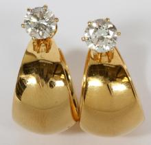 2.08 CTS DIAMOND STUD EARRINGS PAIR