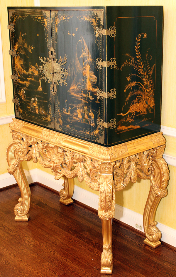 Georgian Chinoiserie Style Chest On Stand