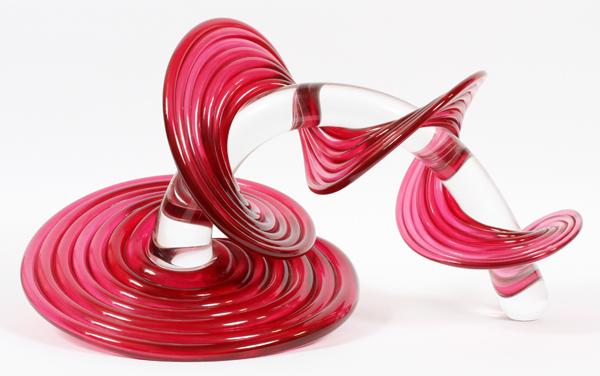 THOMAS KELLY ART GLASS VITRIX SCULPTURE 2005
