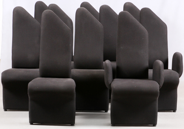 MODERN UPHOLSTERED DINING CHAIRS SET OF 10