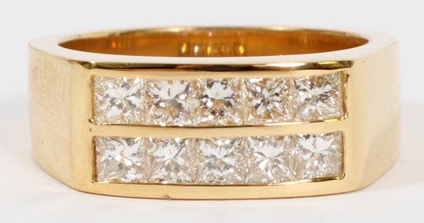 1.50CT DIAMOND & 14KT GOLD MEN'S PINKY RING