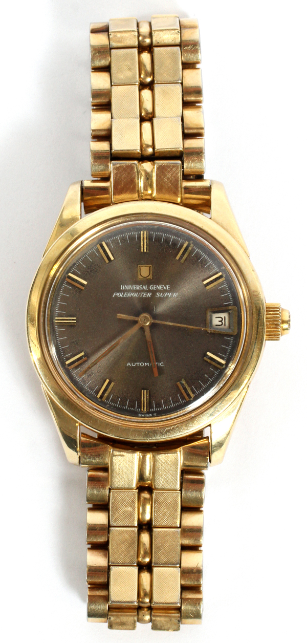 GENEVA POLE ROUTER GOLD FILLED MEN'S WATCH