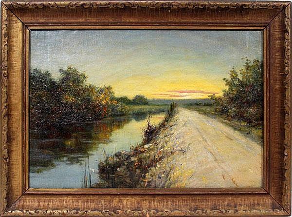 LOUISE AMELIA WOODWARD [AMERICAN 1862-1937] OIL ON
