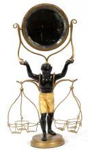 BLACKAMOOR FIGURAL SHAVING MIRROR