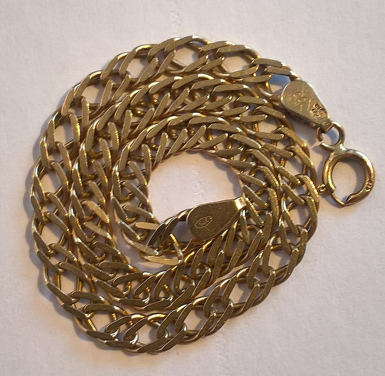 9ct Gold Link Chain (approx 3.5 grams), 20cm lengt