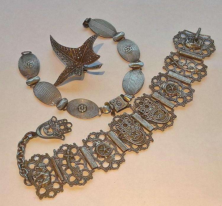 A Persian Silver Bracelet, a silver  HARMONY brace