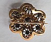 19th Century Two Tone Gold & Diamond  Brooch, cent