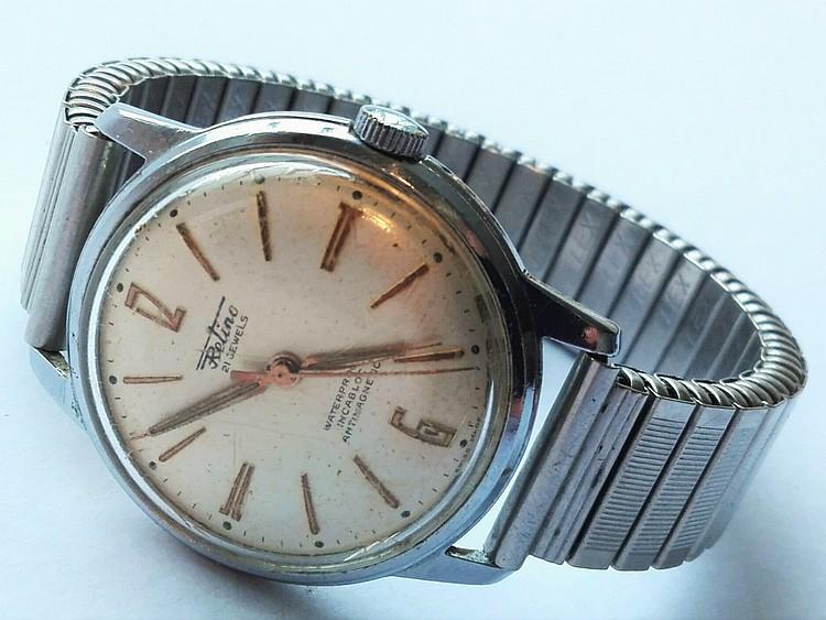 1950's mens RETINO wristwatch on metal strap (work