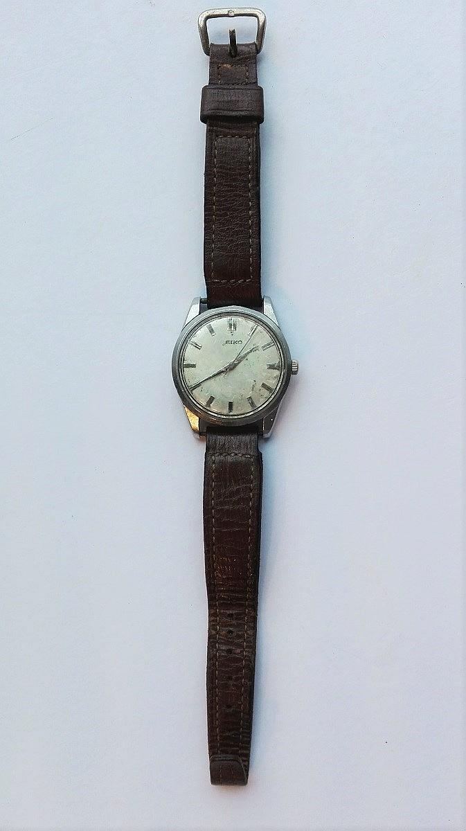 1950's Gents SEIKO wrist watch on leather strap (w