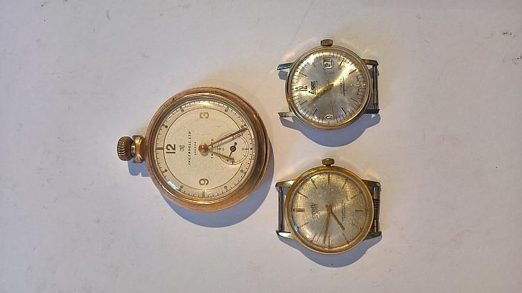 INGERSOLL Ltd TRIUMPH Gold Plated Pocket Watch (mi