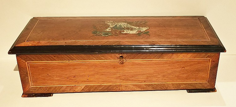 AN OAK CASED TEN AIRE SWISS CYLINDER MUSIC BOX, Ci