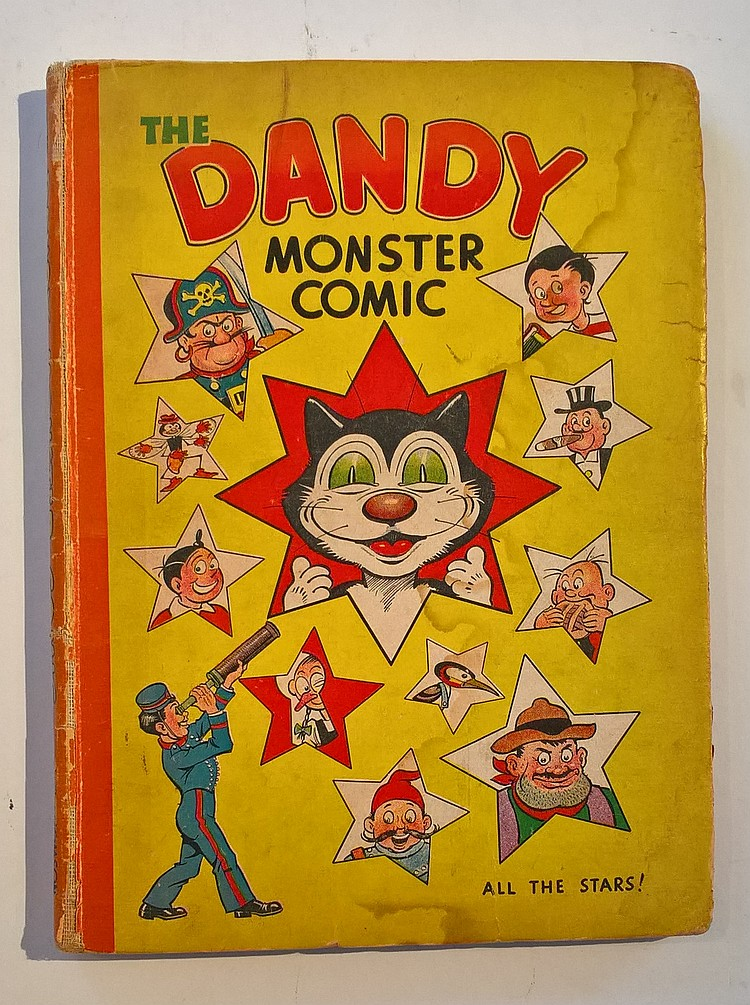 THE DANDY MONSTER COMIC 1946 ANNUAL, tear to page