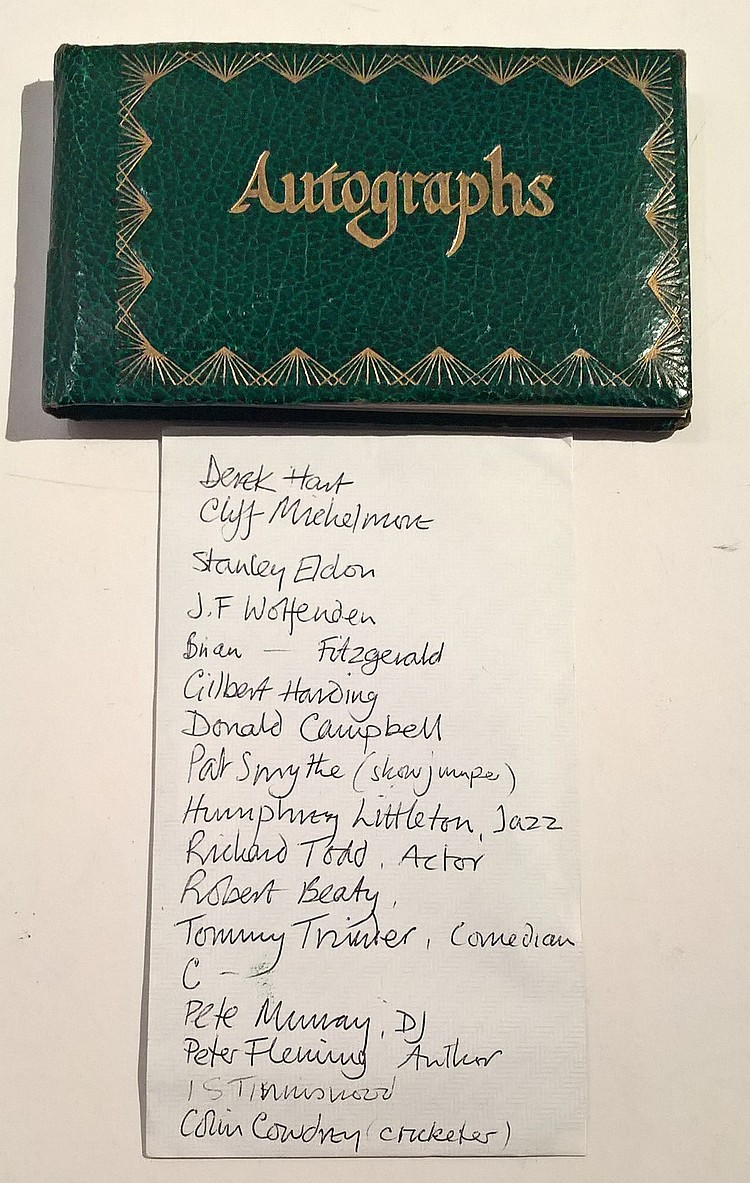 Autograph Book Containing Amongst Others the Signa