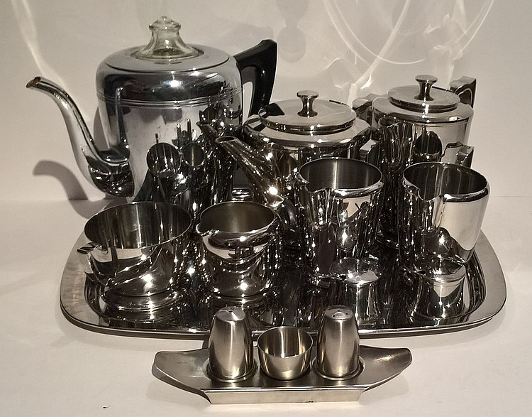 A Vintage OLD HALL Tea Set Comprising Tea Pot, Hot