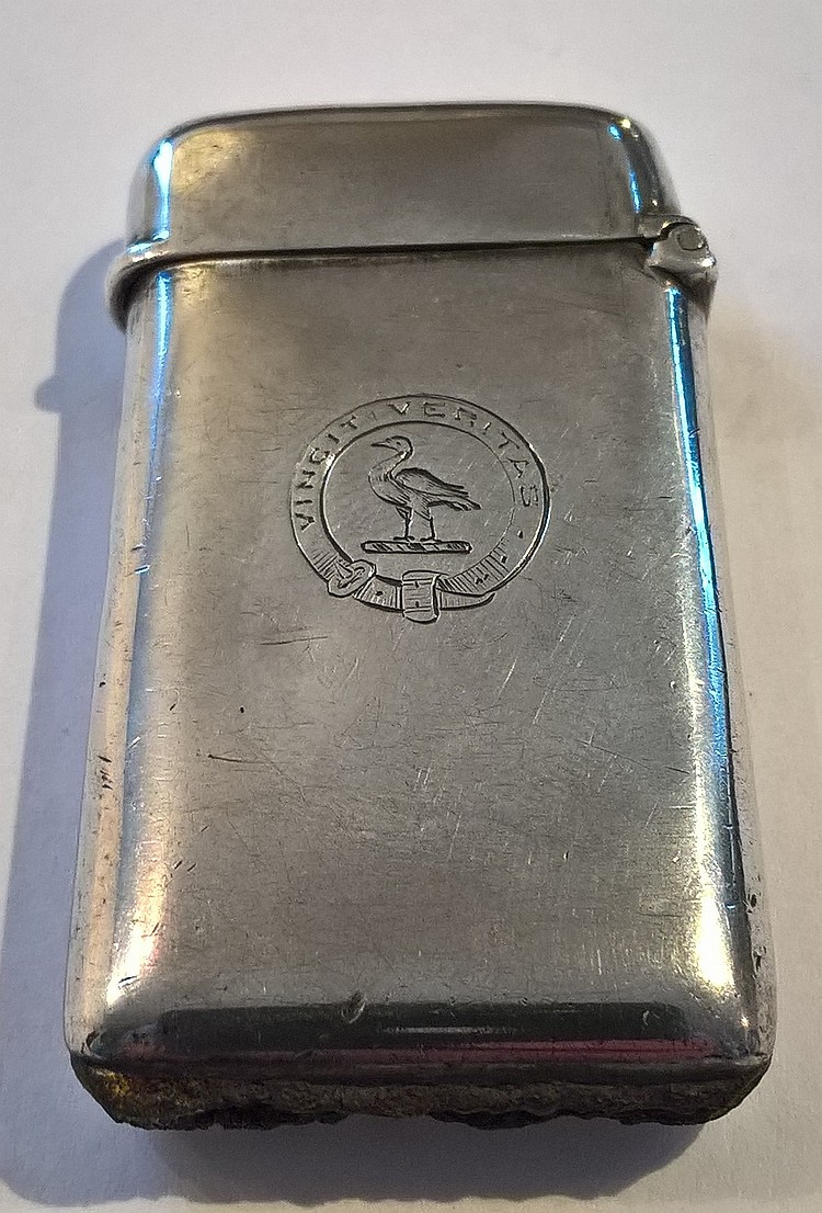 Silver Vesta Case, London 1900, 'Vincit Verita' en