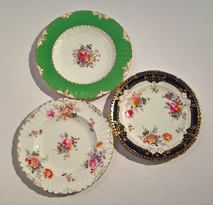 Three Royal Crown Derby Cabinet Plates