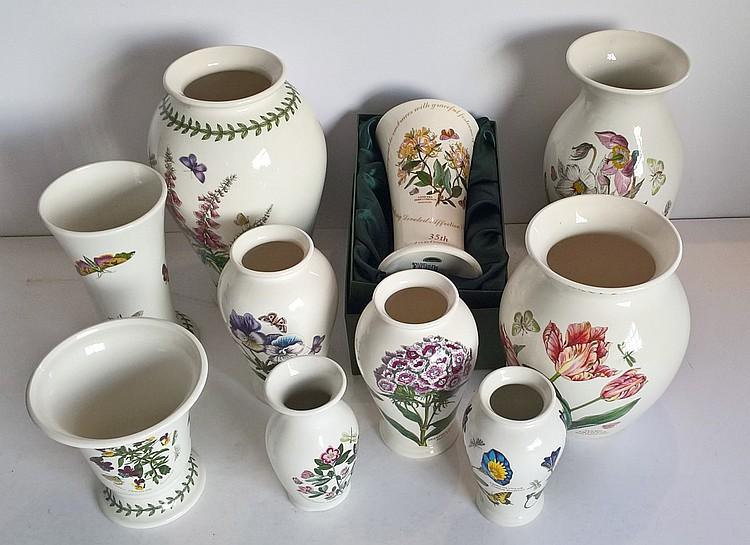 Portmeirion Vases 'Botanic Garden', Varying Sizes