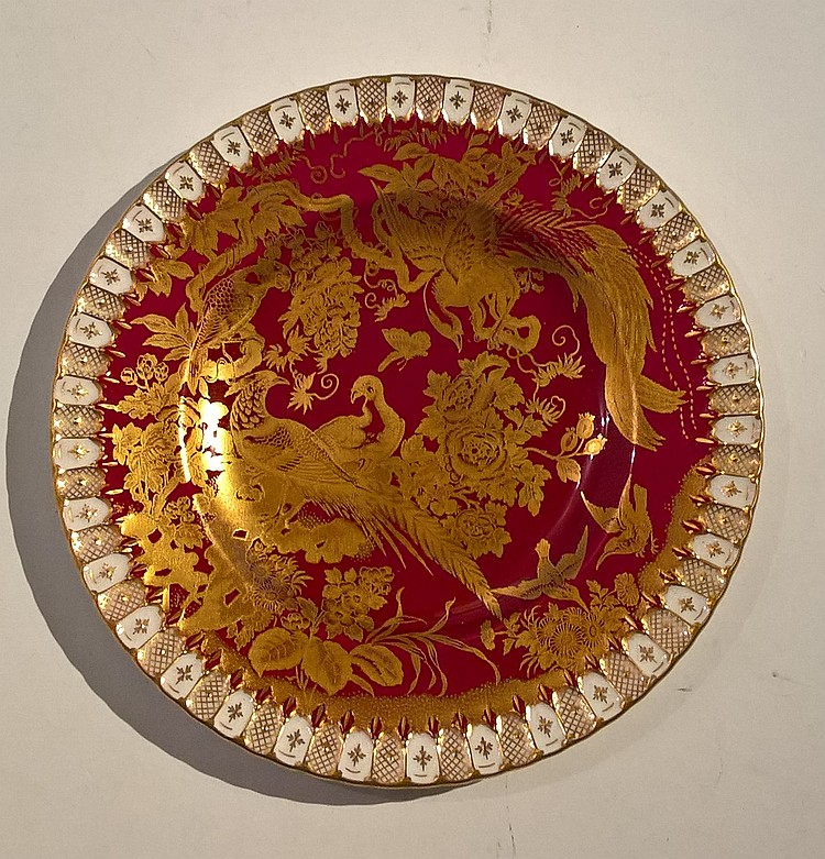 Royal Crown Derby Bone China Plate, Heavily Gilded
