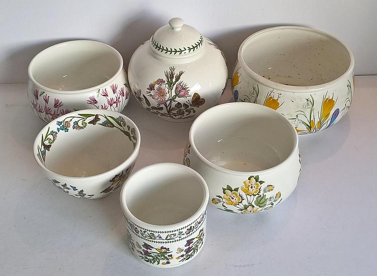 Portmeirion Bowls 'Botanic Garden', Varying Sizes,