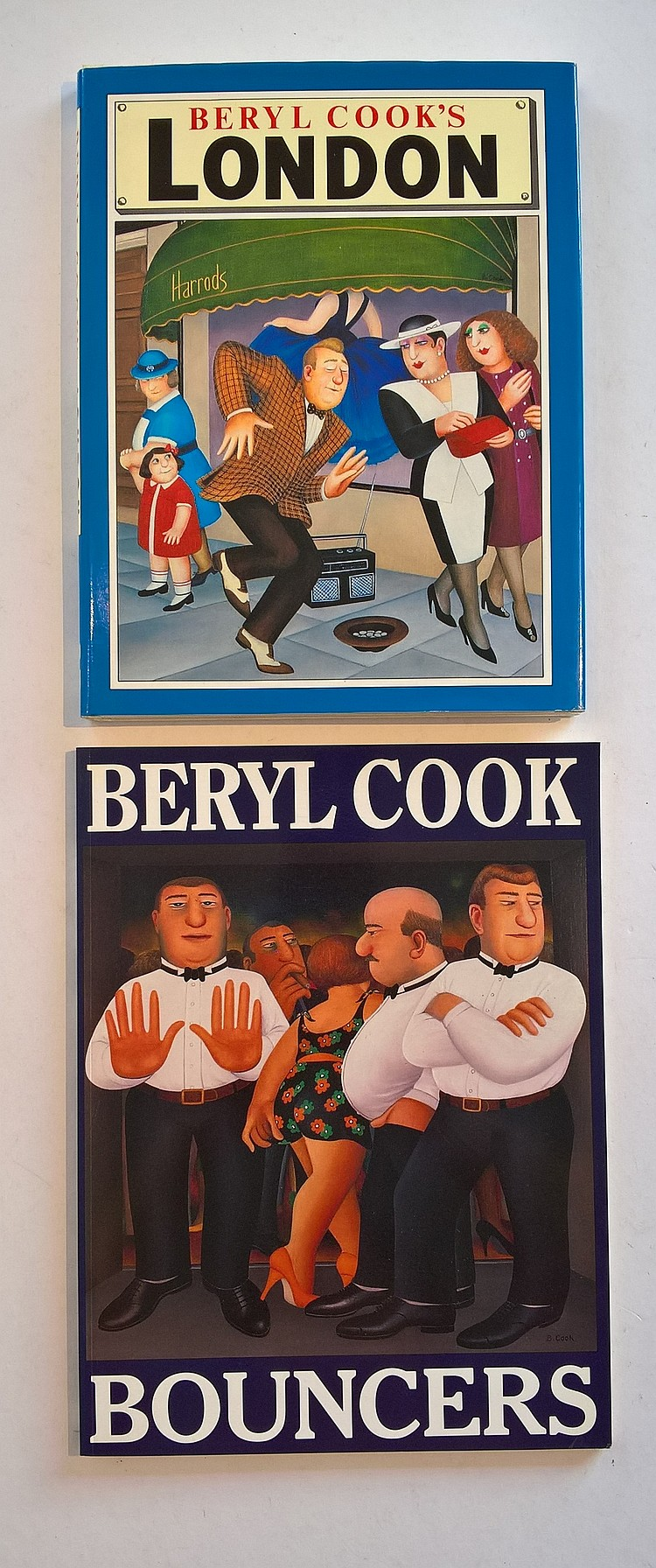 Beryl Cook Books (2) - Beryl Cook Bouncers by Vict