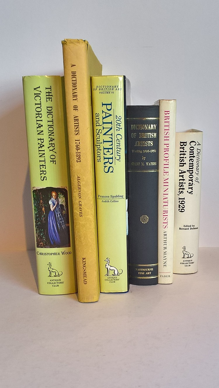 Various Dictionaries of Artists including A Dictio