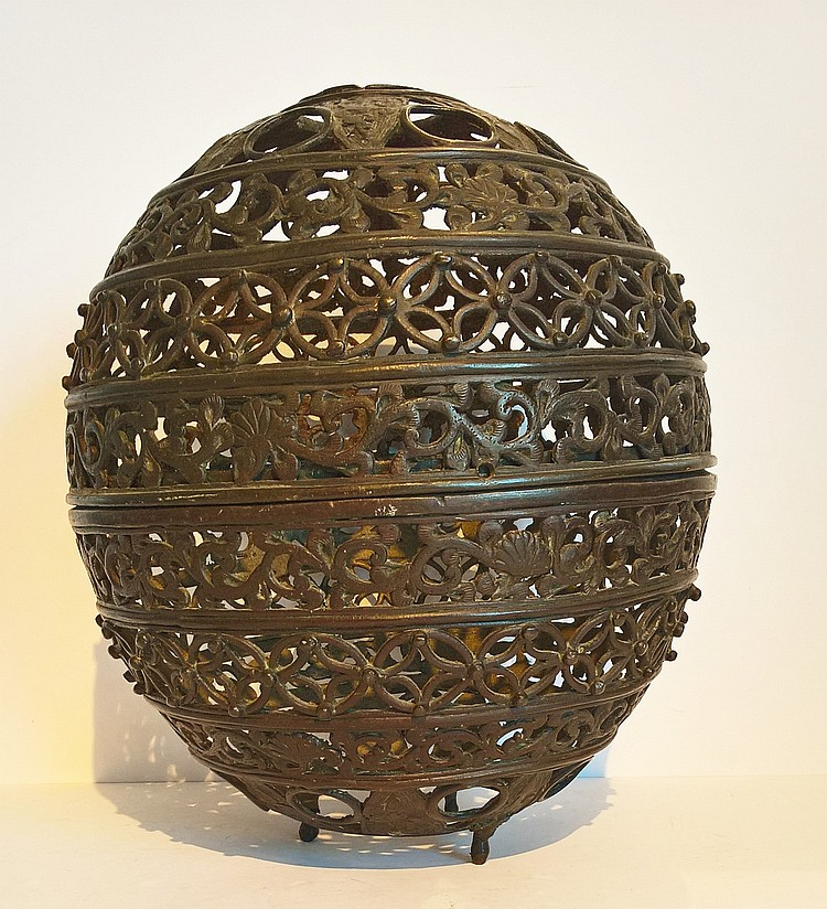 Ming Dynasty (1368-1644) Reticulated Bronze Censer