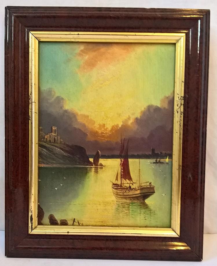 HARRY HASLEY MEEGAN, oil on board, circa 1920, ins