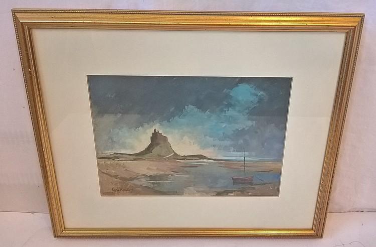 GURNEY, Oil, signed, framed, 34cm x 24cm