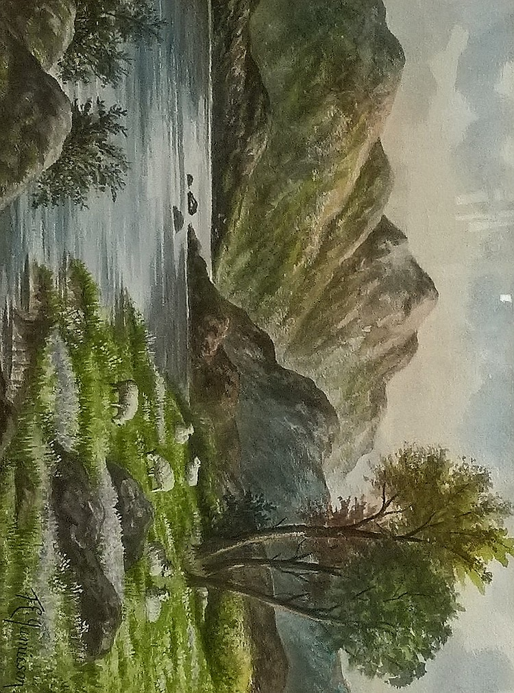 F.E. JAMIESON Pair of framed Watercolours, both si