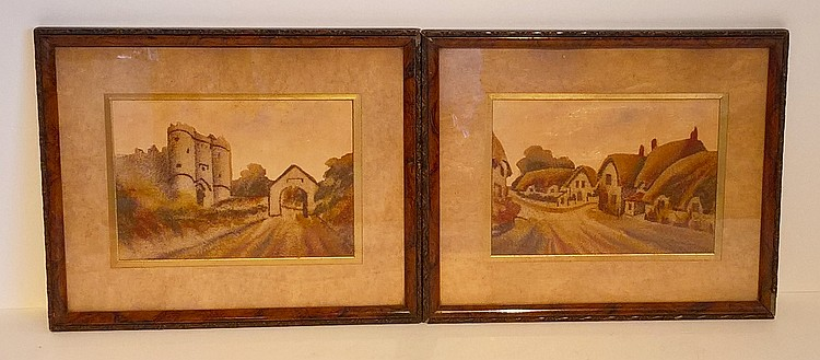 Pair Framed Pictures 'Famous Coloured Sands of Alu