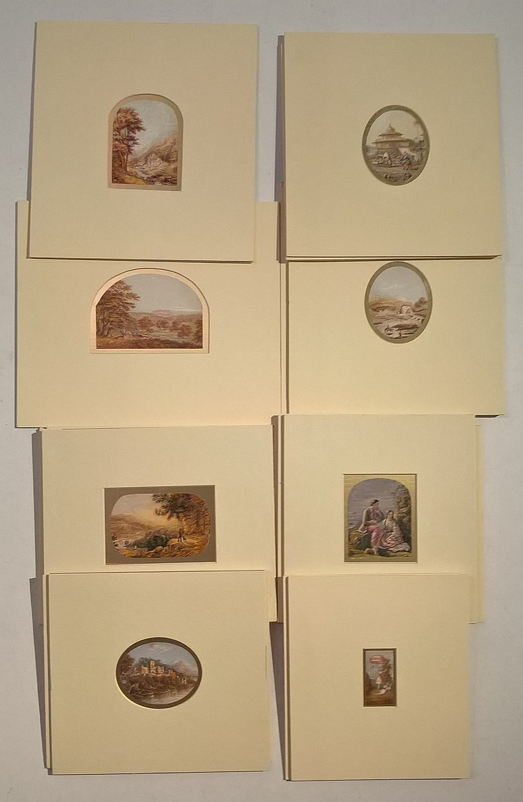 Collection of Victorian BAXTER Needlework Prints,