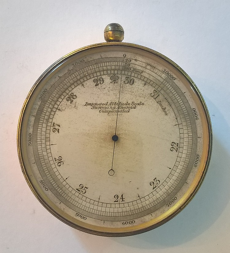 Early Aneroid Barometer, Marked on face 'Improved
