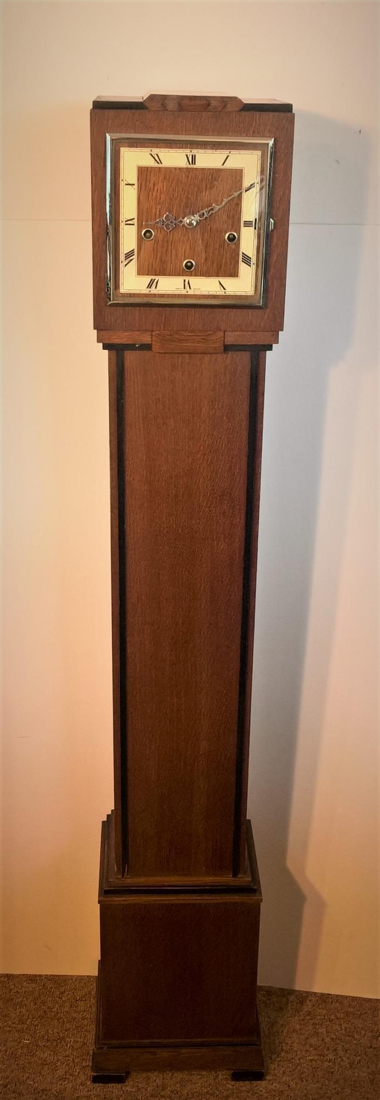 ENFIELD 1930's Oak Cased Grandmother Striking Clock