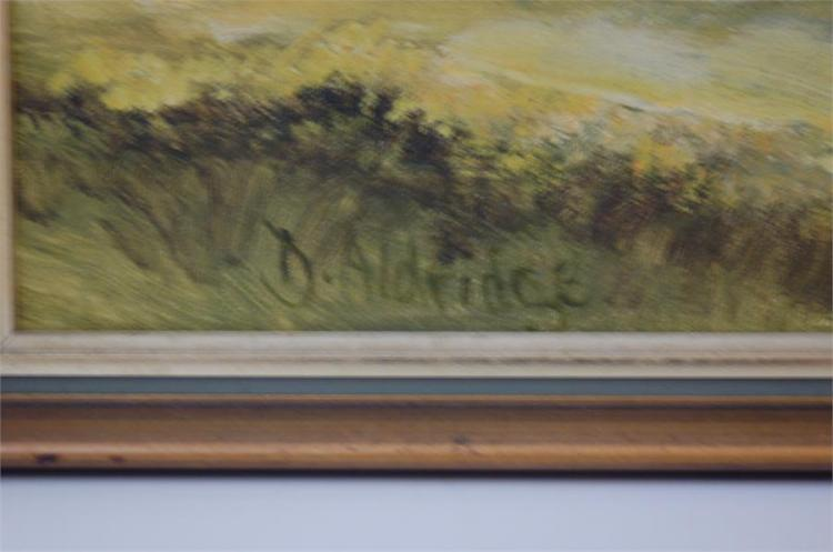 Dorothy Aldridge (1921 - 1997) Glastonbury Tor on a Frosty Morning, Oil on Board W 44cm H 34cm.