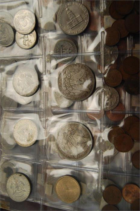 A Folder Containing Silver & Copper Coins of Value including