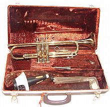 1967 Olds Ambassador Trumpet (Serial #: 601763), Olds #3 Mouthpiece, & New Improved Ray Robinson Cup Mute