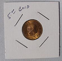 $5- Gold Cinco Centavos Mex.