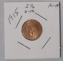 1915 $2.50 Gold Indian Coin